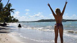 Ale Maglietti mostró la cola en Brasil
