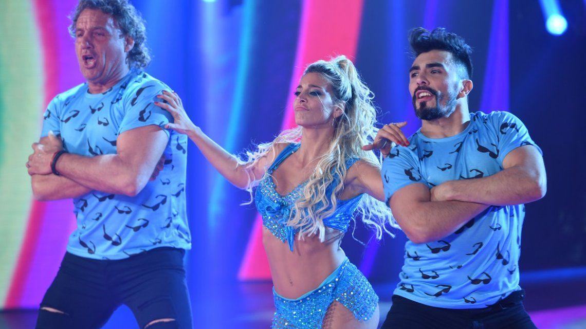 Sol Pérez y Bertona bailaron el cuarteto de a tres con Serafo