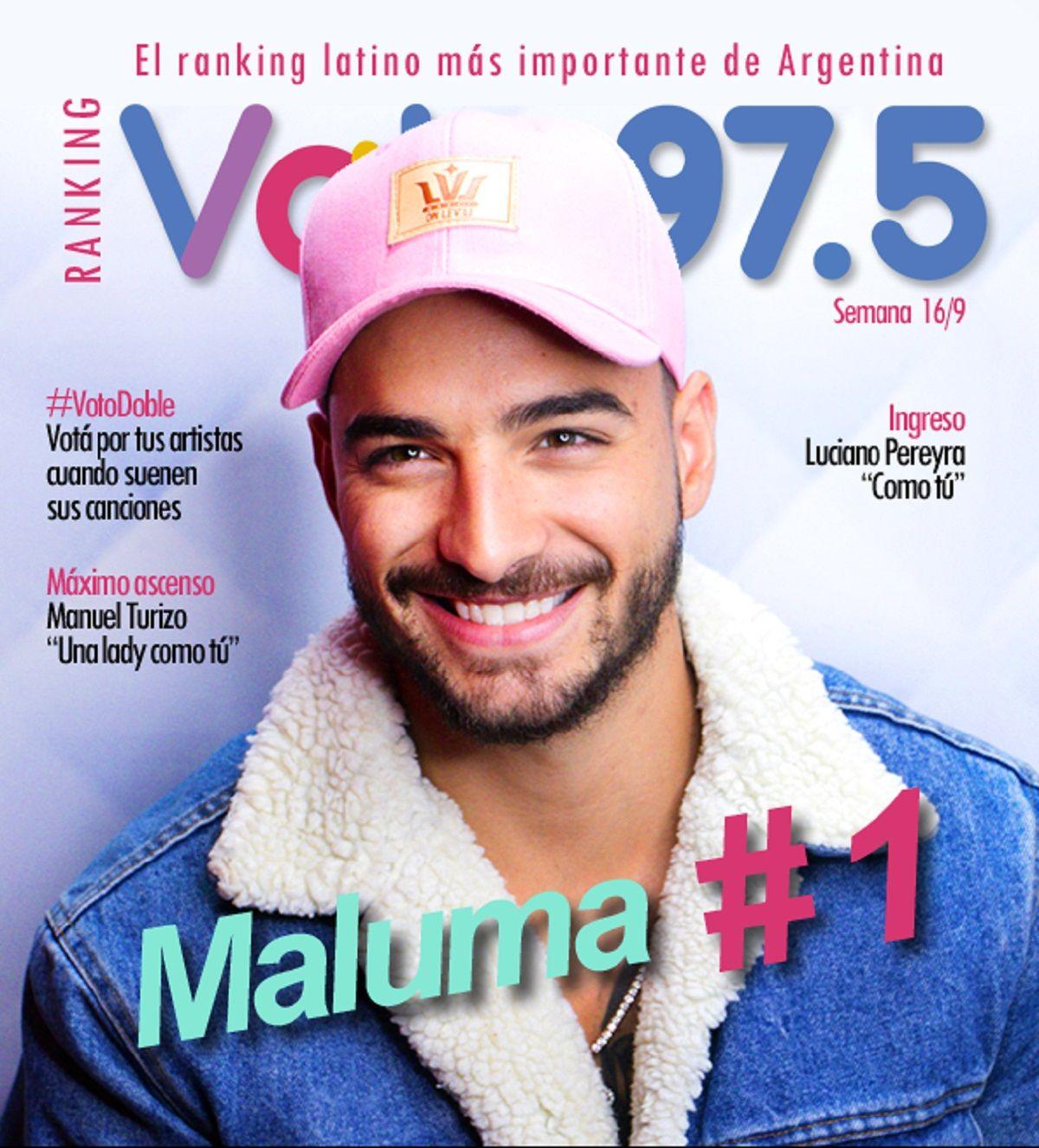 Maluma volvió a lo más alto del Ranking Vale