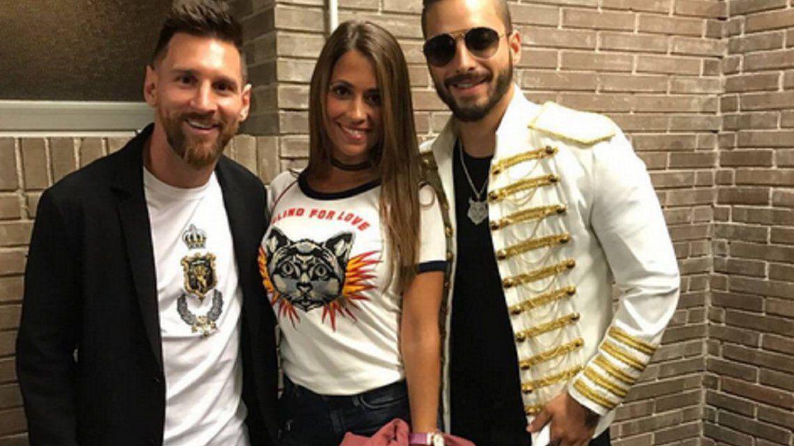 Messi y Antonela fueron a ver a Maluma: ¡mirá las fotos del encuentro!