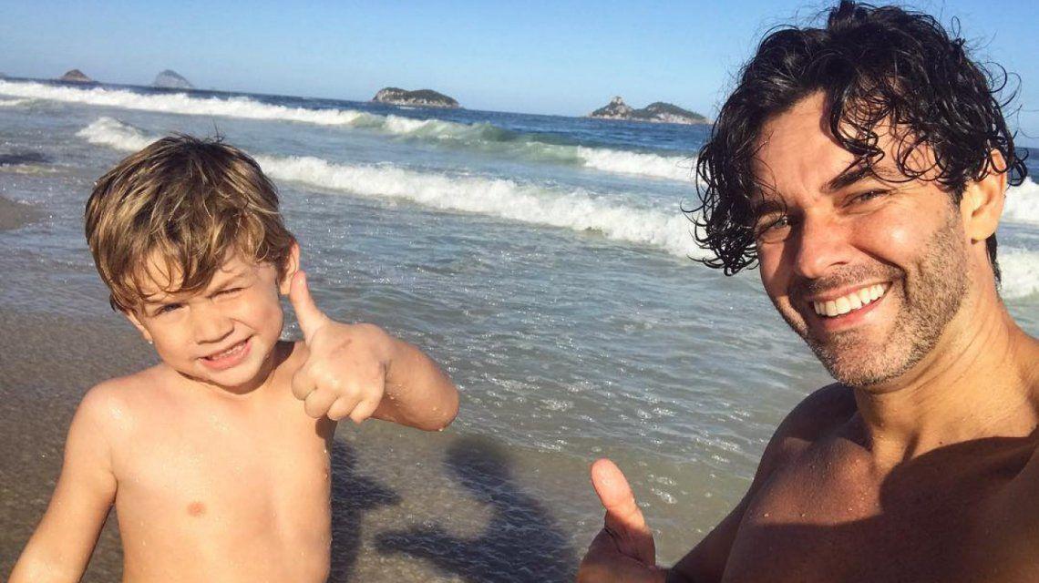 Mariano y su hijo