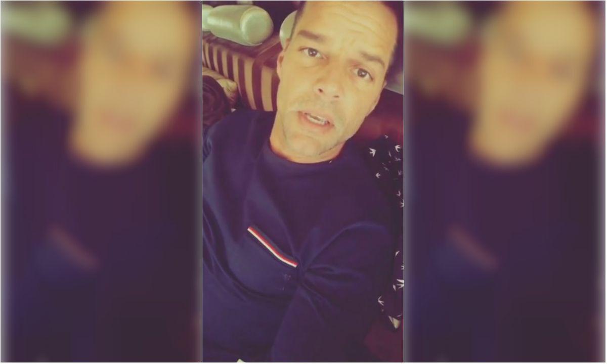 Ricky Martin publicó un video en las redes