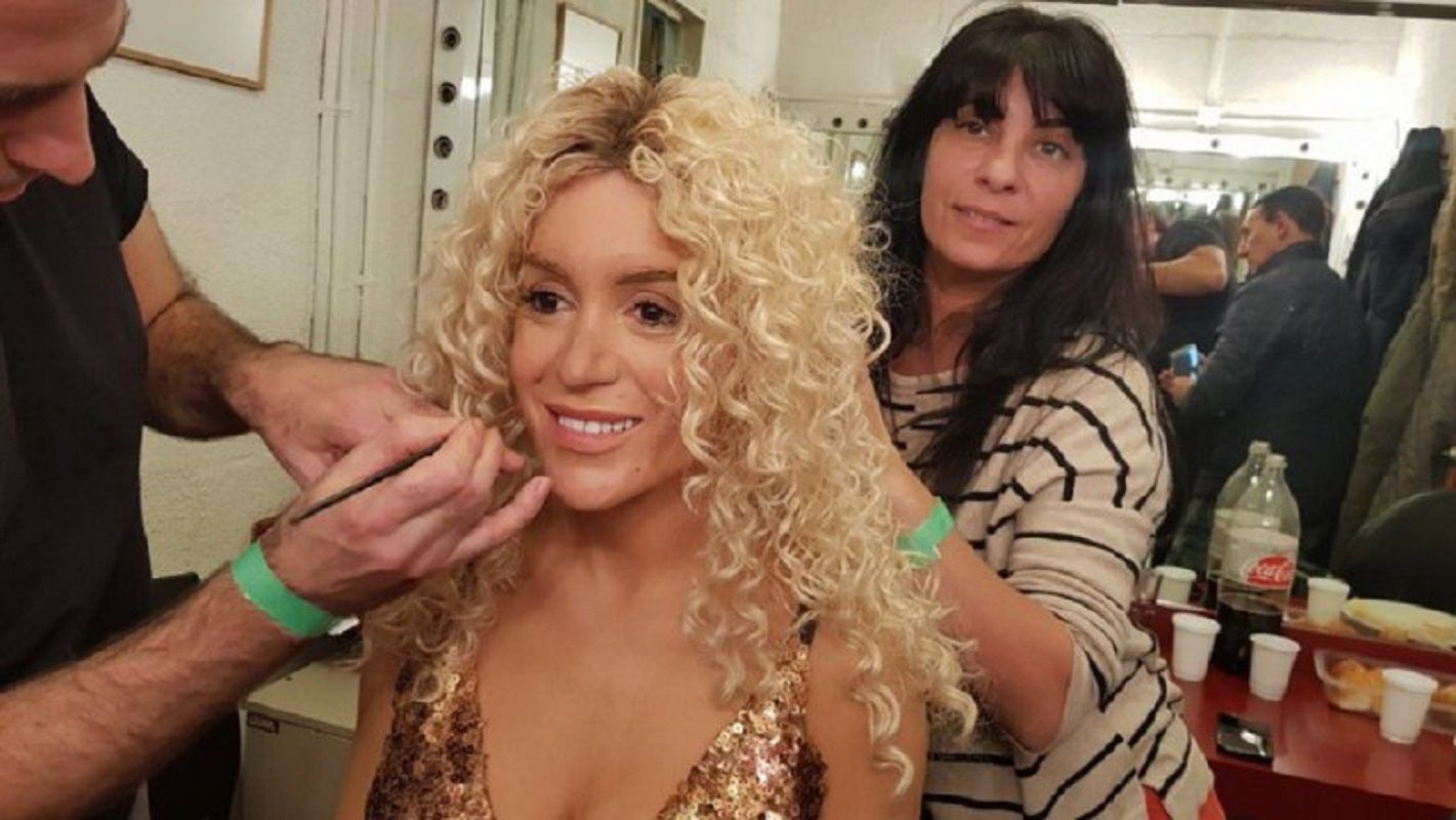 Fátima Florez preparándose para ser Shakira