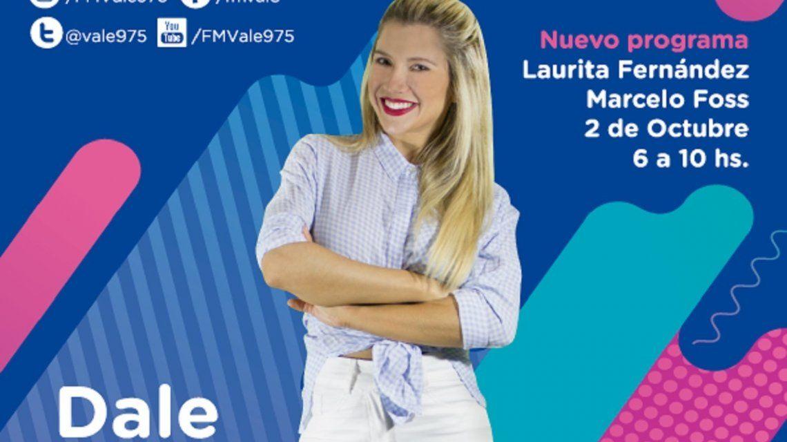 Laurita Fernández llega el lunes a Vale 97.5