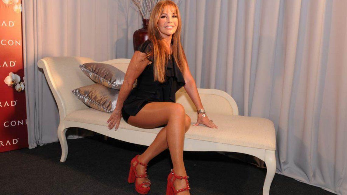 Graciela Alfano tras su caída