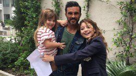 Fabián Cubero y sus hijas