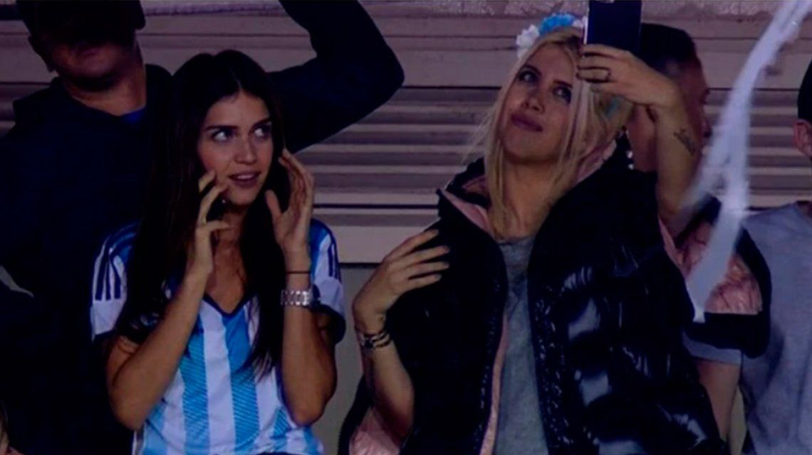 El accidente de Zaira y Wanda Nara antes del partido de Argentina