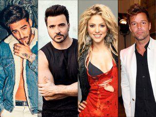 Maluma, Fonsi, Shakira, Ricky y Residente, entre los más nominados