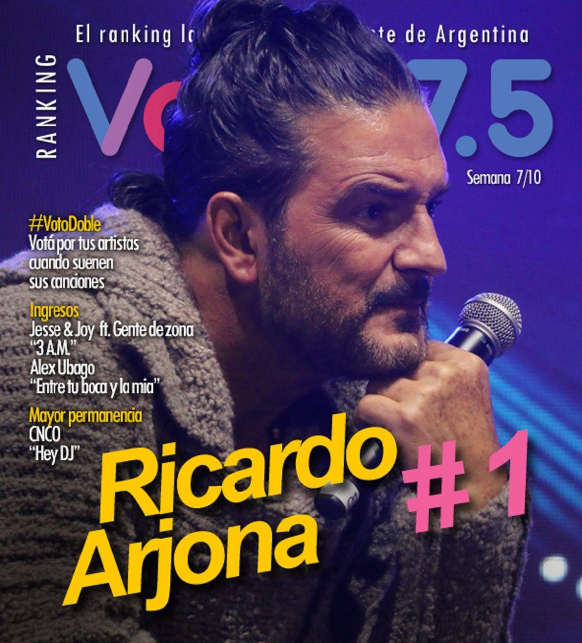Ricardo Arjona, imparable en el Ranking Vale