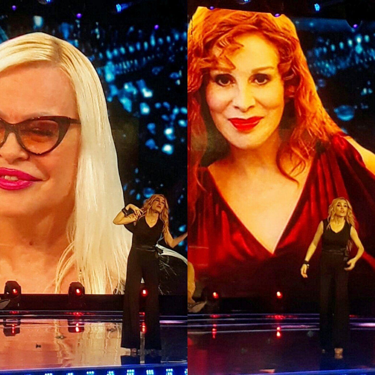 Fátima Florez imitando a Silvia Süller y Nacha Guevara
