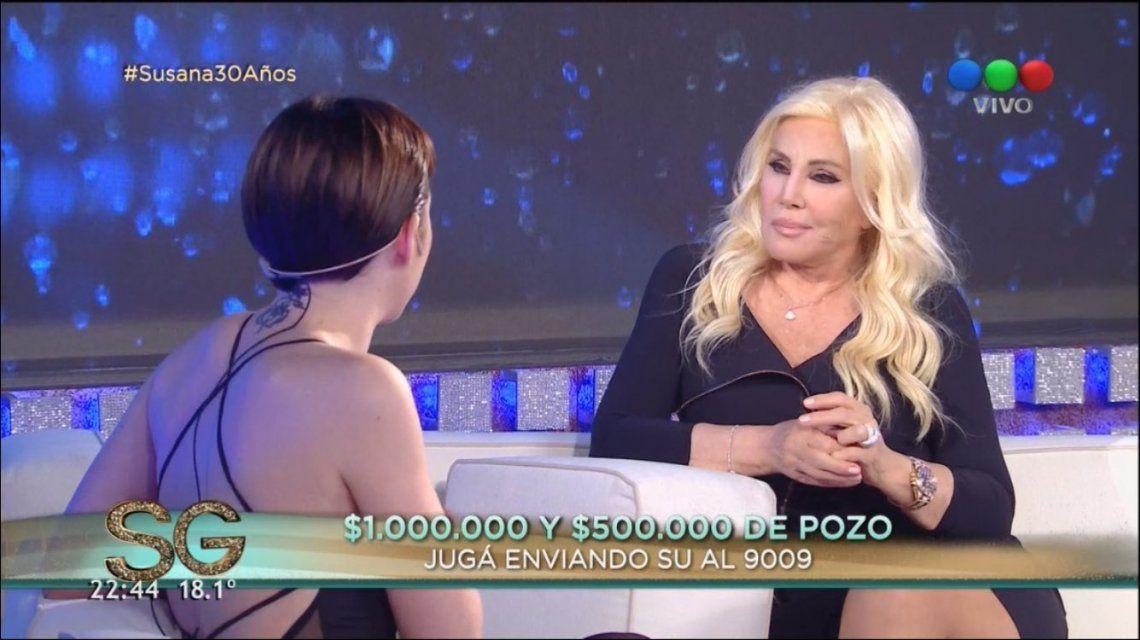 Sofía Gala Castiglione y Susana Giménez