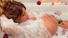 Flor Peña, antes de dar a luz a Feli