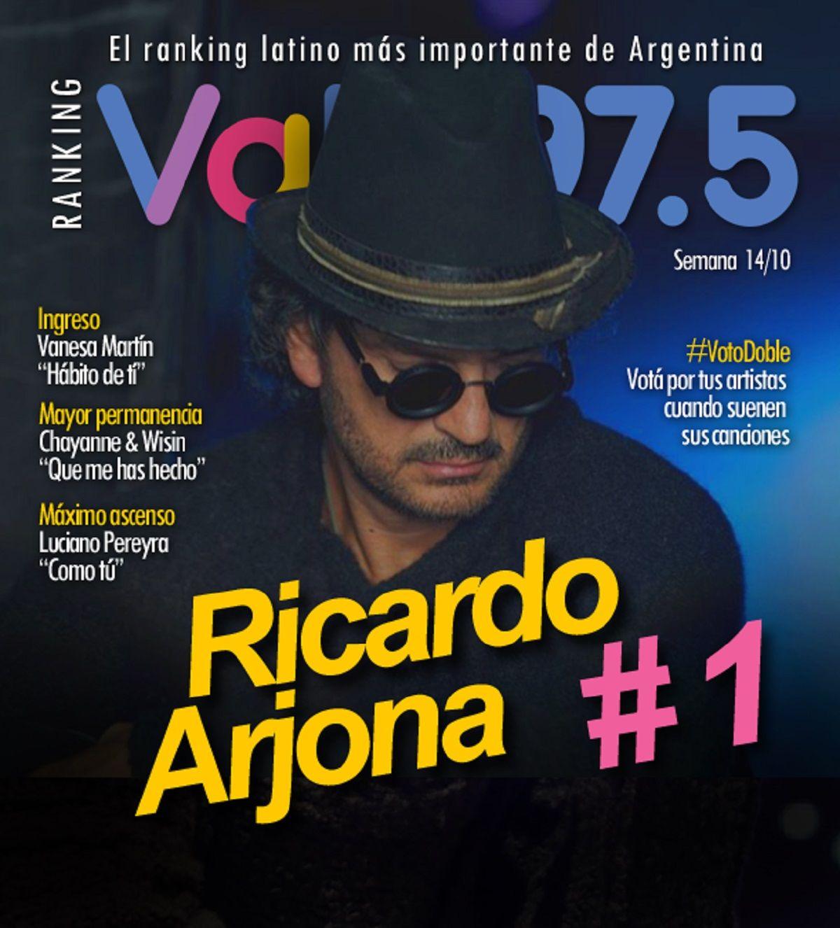 Ricardo Arjona, el rey del Ranking Vale