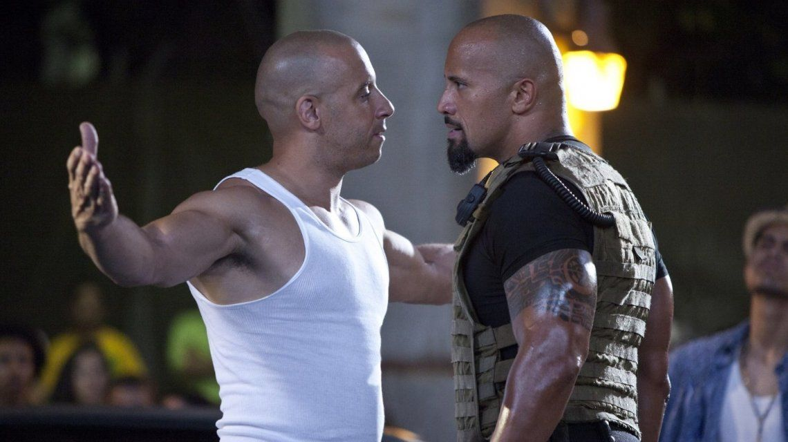 Vin Diesel y The Rock
