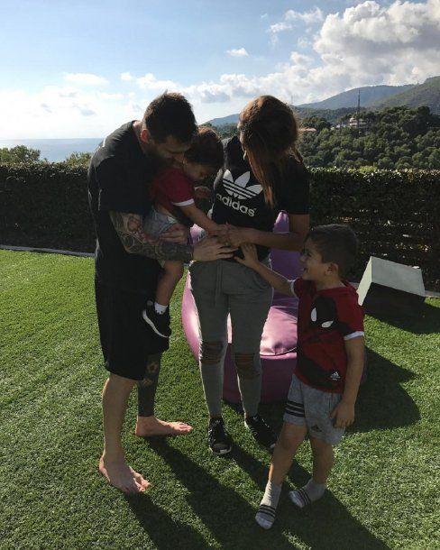 Lionel Messi y Antonela Roccuzzo, otra vez papás