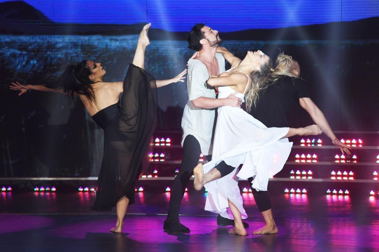 Imponente coreo de Hernán Piquín y Macarena Rinaldi tras el fuerte accidente en el ensayo
