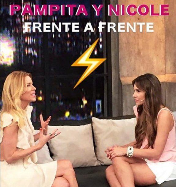 Nicole y Pampita, en plena entrevista<br>