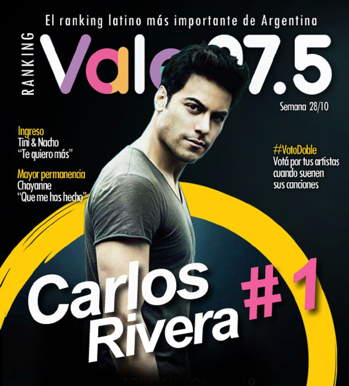 Carlos Rivera sigue en lo más alto del Ranking Vale