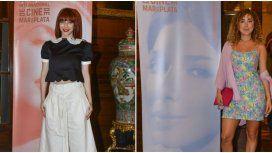 Los llamativos looks de Romina Gaetani y Anita Pauls en un evento de cine