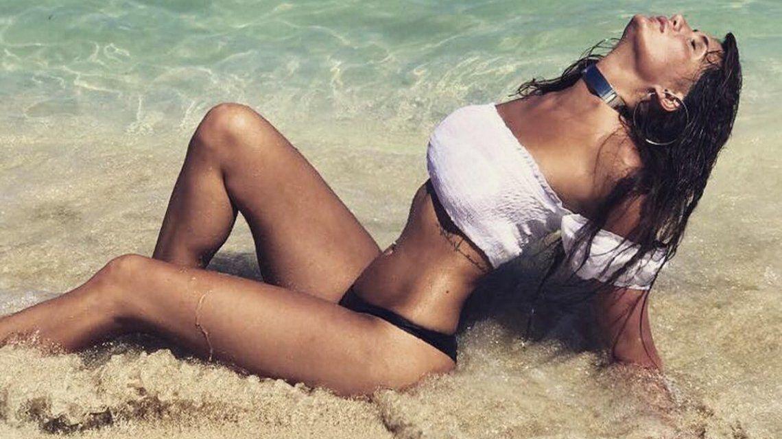 El topless furioso de Magalí Mora en Miami