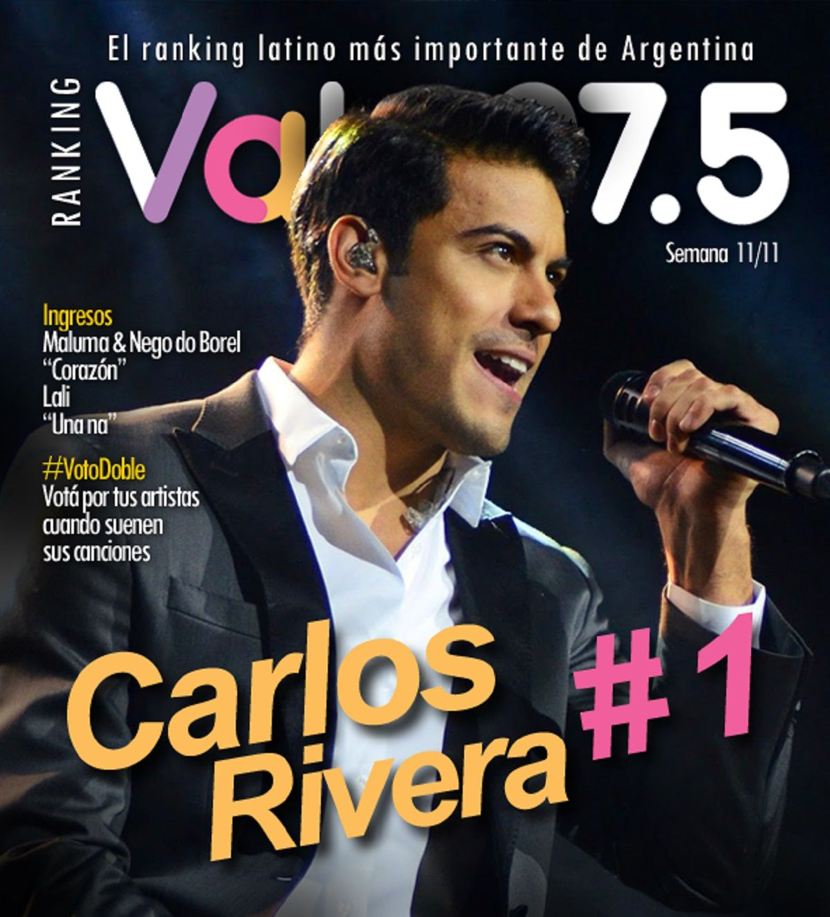 Carlos Rivera sigue al frente del Ranking Vale