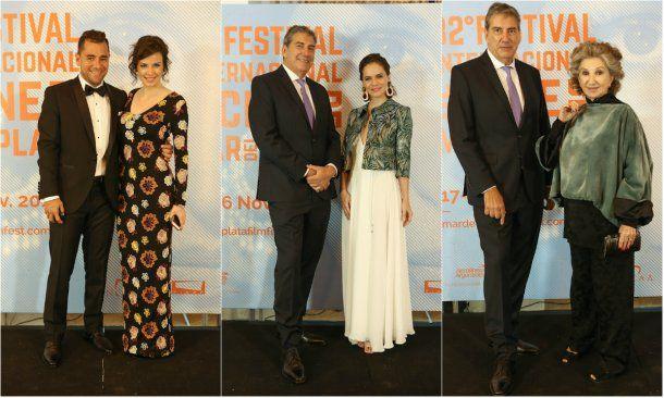 Cecilio Flematti con Mercedes Funes, y Ralph con Luz Cipriota y Norma Aleandro<br>