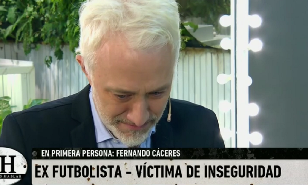 El llanto de Andy Kusnetzoff al entrevistar al ex futbolista Fernando El Negro Cáceres