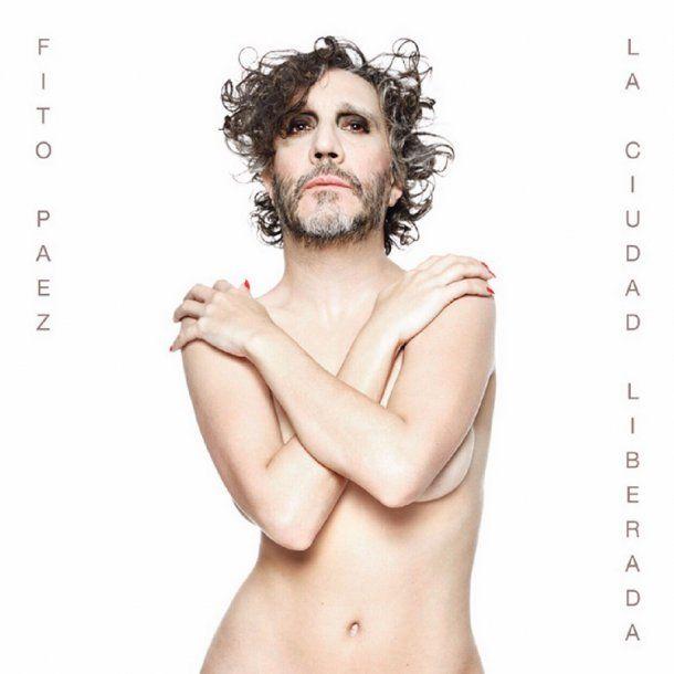 Fito Páez maquillado y con cuerpo de mujer desnuda — Controvertida imagen