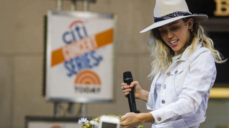 Miley Cyrus en una de sus últimas presentaciones
