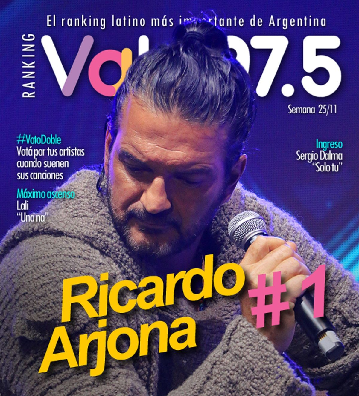 Ricardo Arjona sigue en lo más alto del Ranking Vale