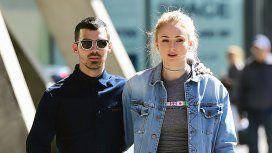 Joe Jonas y su novia Sophie Turner