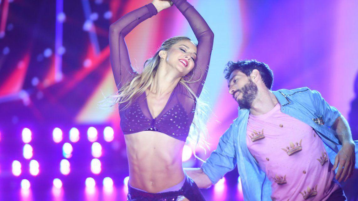 Flor Vigna y Gonzalo Gerber bailando cuarteto en la semifinal del Bailando