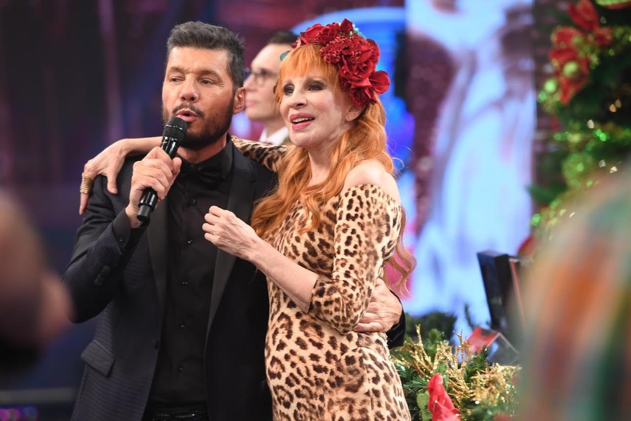 Marcelo Tinelli y Nacha Guevara en el Bailando 2017