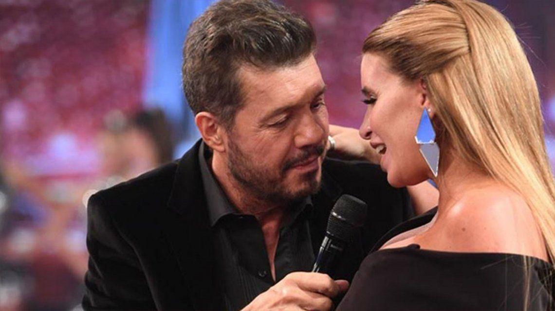 Marcelo Tinelli y Flor Peña