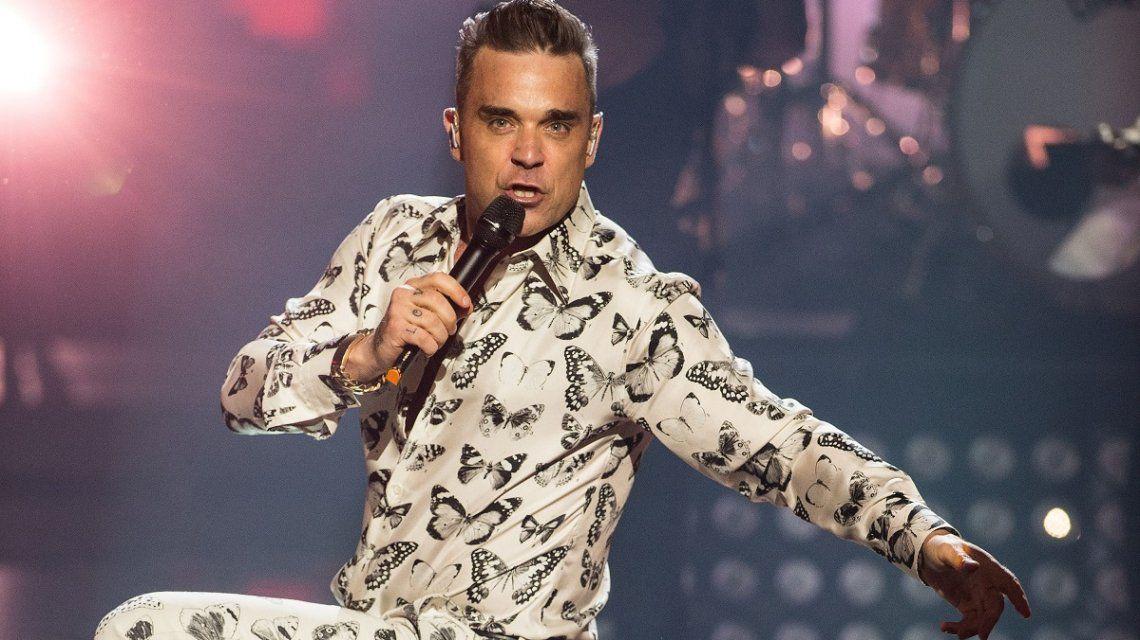 Robbie Williams se desnudó para la Navidad