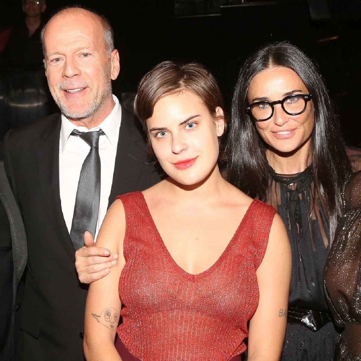Bruce Willis y Demi Moore junto a Tullulah Willis
