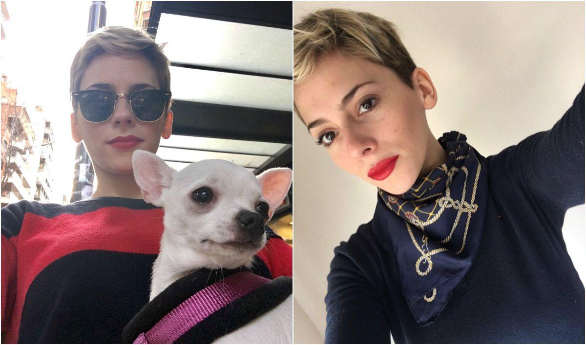 Rocío Gancedo y su perrita Zoe