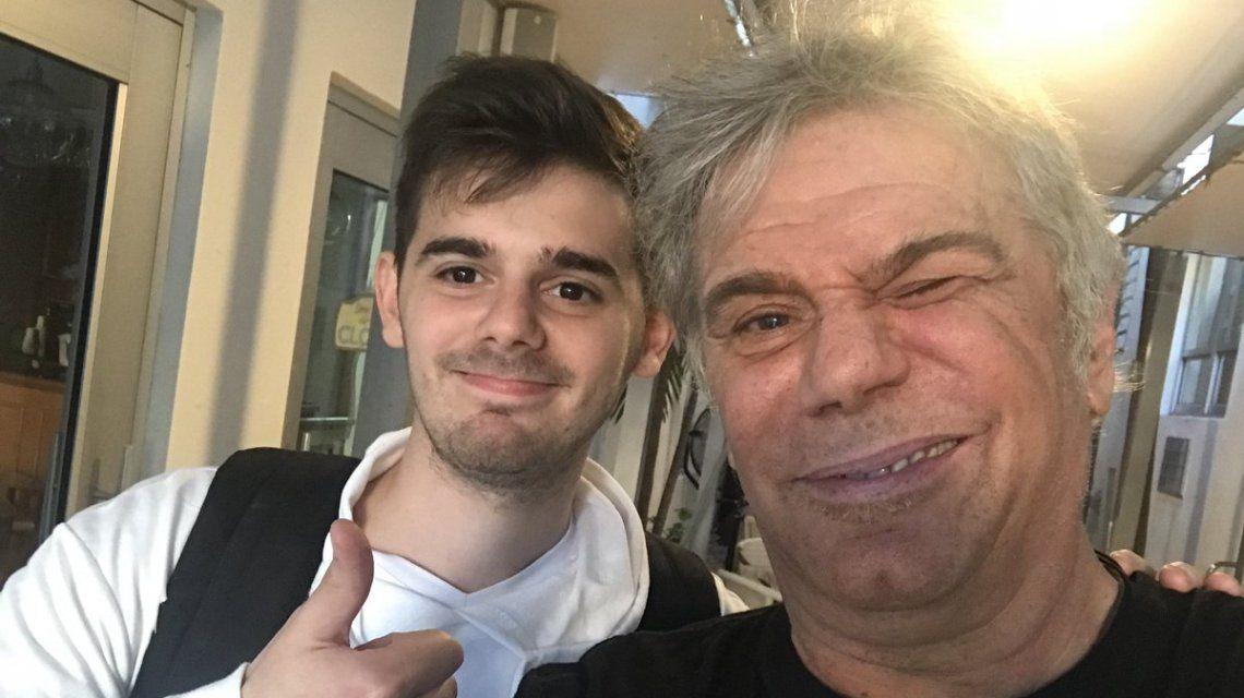 Beto y su hijo Franco recién llegados a Miami