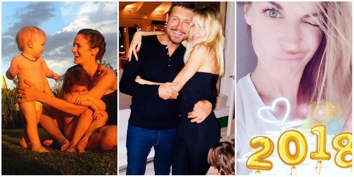 Los festejos de los famosos en Año Nuevo