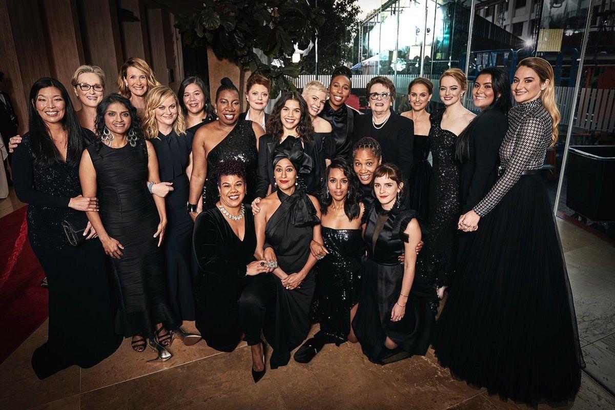 {altText(#TIMESIUP en el Golden Globes 2018,Globos de Oro: las actrices se visten de negro contra el acoso sexual en Hollywood)}