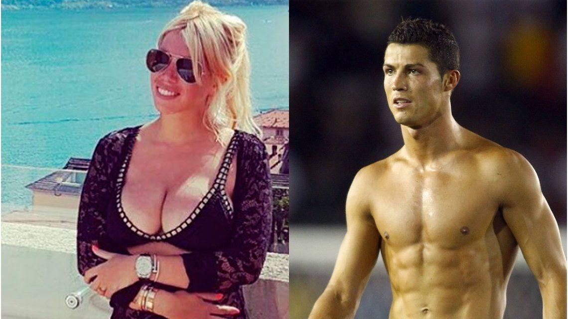 Wanda Nara likea a Cristiano Ronaldo