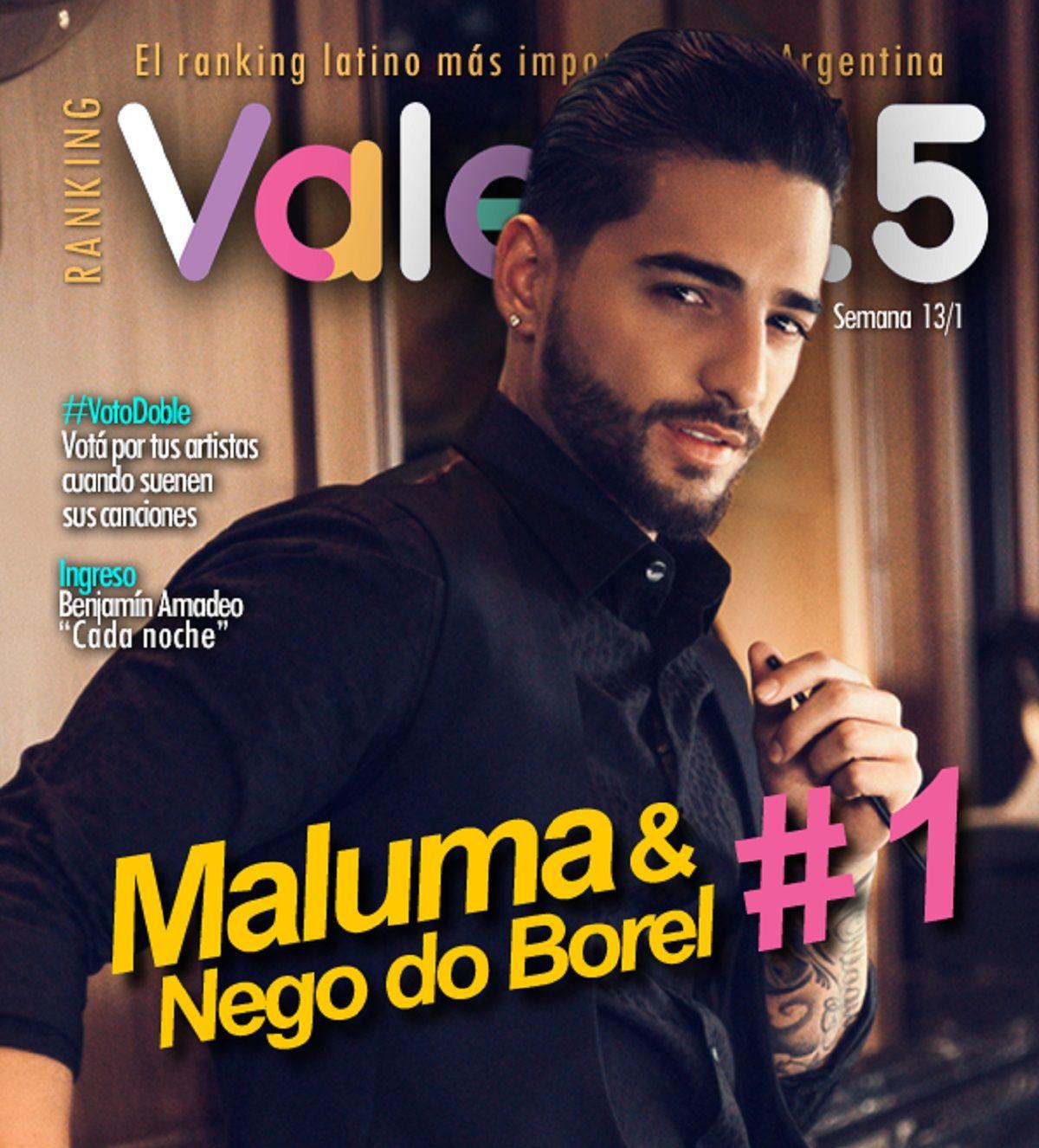 Maluma domina con Corazón el Ranking Vale