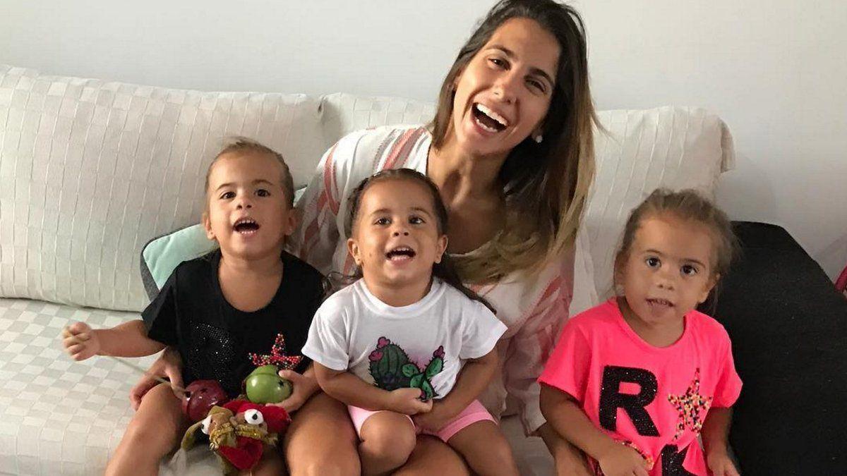 Polémico video de Cinthia Fernández junto a una de sus hijas en el auto