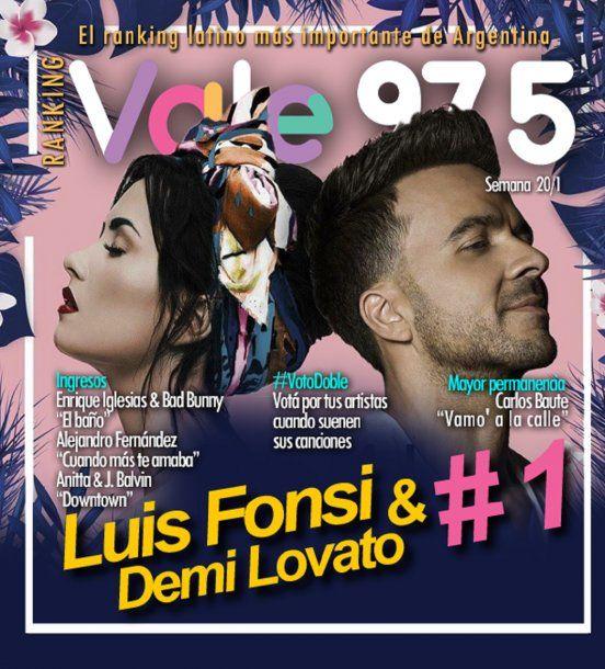 Demi Lovato y Luis Fonsi<br>