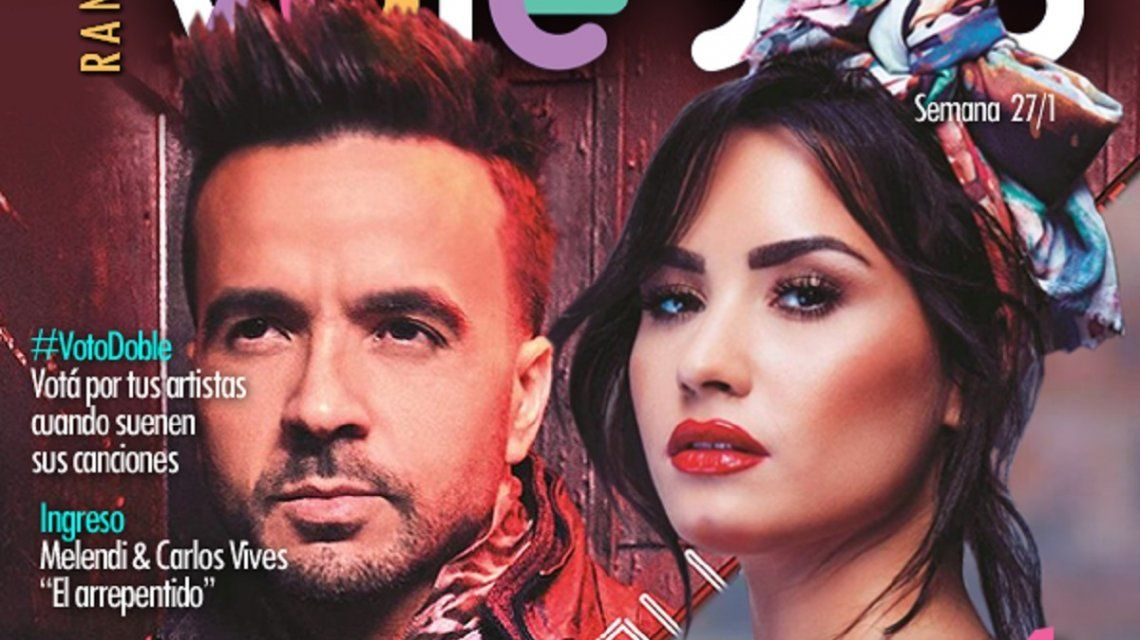 Luis Fonsi y Demi Lovato lideran el Ranking Vale