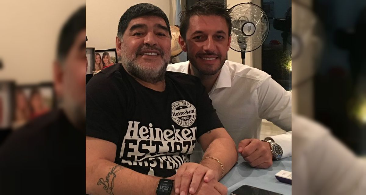 Maradona y Morla en Dubai y la foto de la polémica