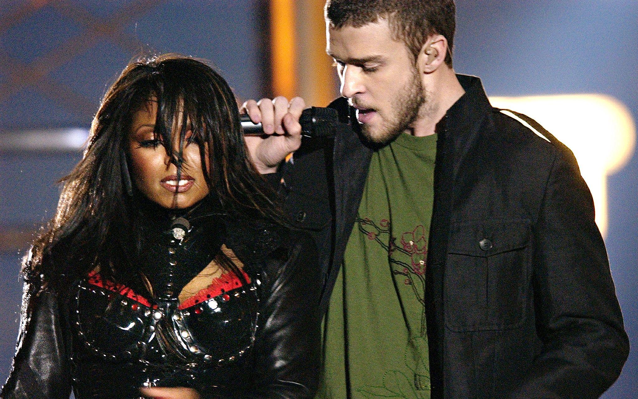 Janet Jackson y Justin Timberlake minutos antes del Nipplegate