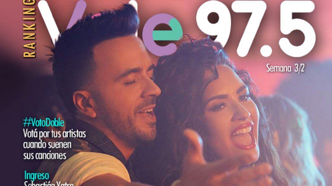 Fonsi y Demi Lovato siguen en el puesto N° 1