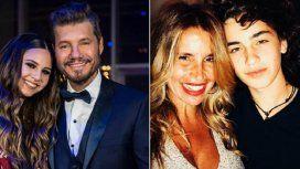 Flor Peña con su hijo Toto, el nuevo novio de Juanita Tinelli