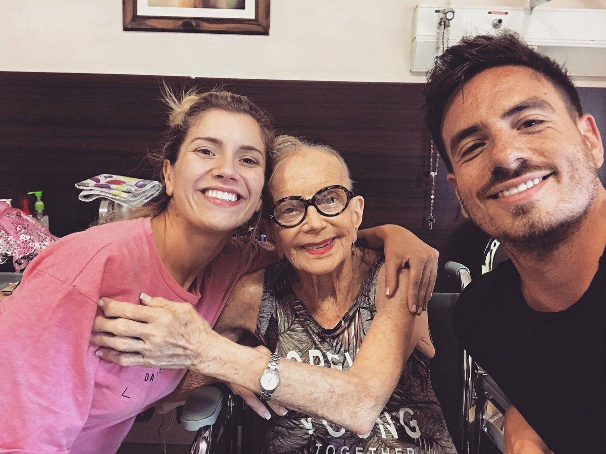 Una de las últimas fotos de Fede con su abuela